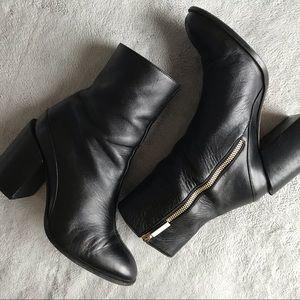 Dear Frances Spirit Boot Black Leather Sz 36 US 6